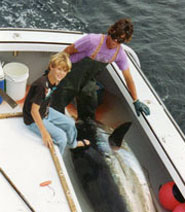 Shane and Noah with Tuna