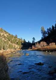 Moonrise NM River
