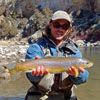 Nice Chama River Brown Trout - November in Northern New Mexico