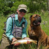 Selassie the Smiling New Mexico Trout Dog (on the Chama River)