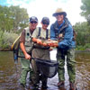 Nice Conejos River Trout! (Father, Son and Guide)